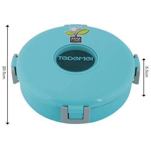 Tedemei Lunch Box-Tiffin Set - Stainless Steel,Blue - BlueBB 570 3, 920 ml