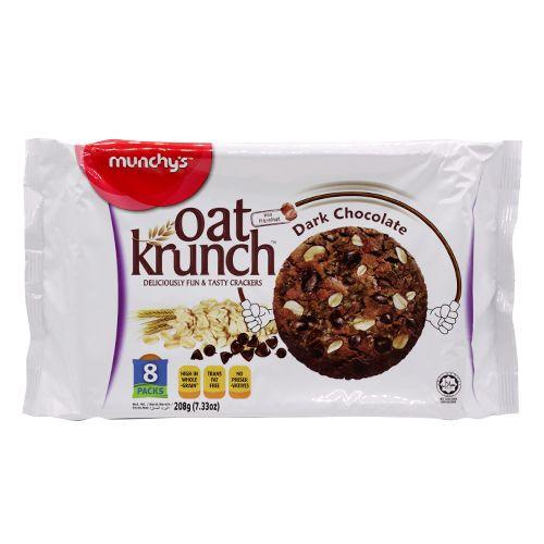 Munchys Oat Krunch - Dark Chocolate, 208 g