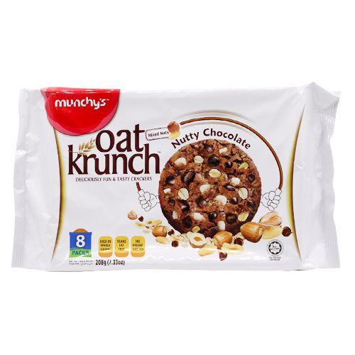 Munchys Oat Krunch - Nutty Chocolate, 208 g