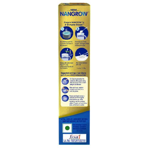 Nestle  Nangrow Nutritious Milk Drink For Growing Children - 2-5 years, Creamy Vanilla, 400 g Bag-In-Box