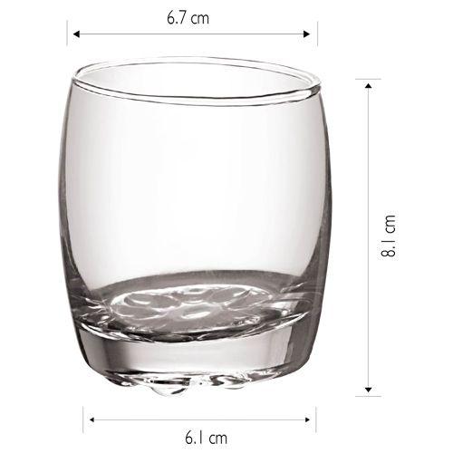 Cello Amphio Glass Tumbler Set, 210 ml