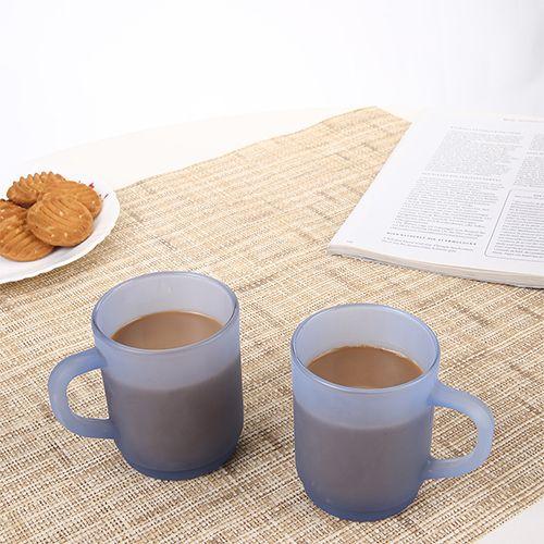 Iveo  Glass Glow Mug Set - Blue, 2 pcs
