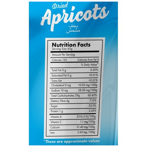Delight Nuts Dried Fruit - Apricots, 750 g