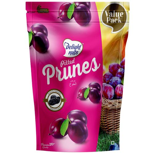 Delight Nuts Pitted Prunes, 750 g