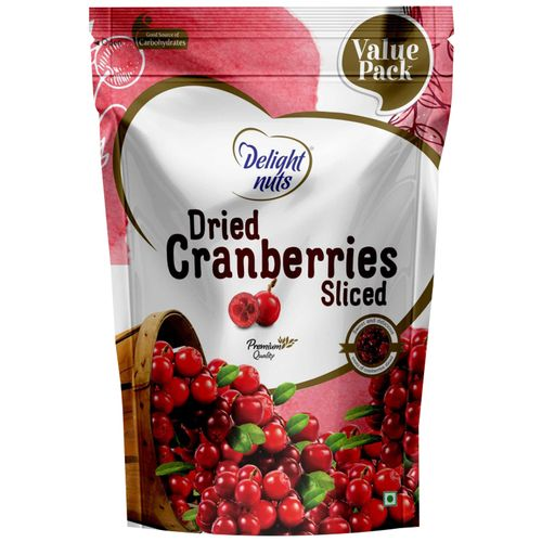 Delight Nuts Dried Fruit - Cranberries, Sliced, 750 g