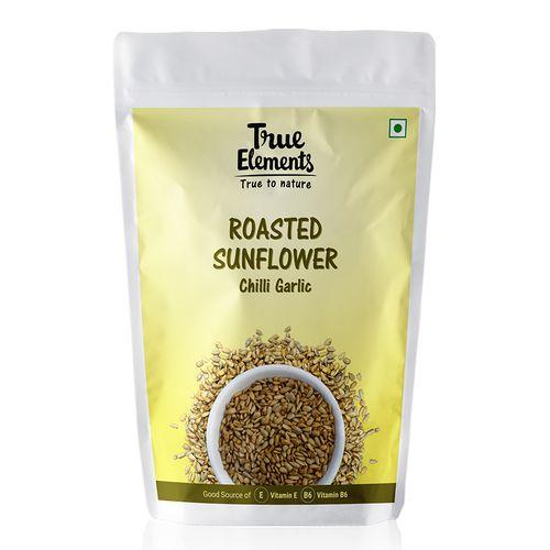 True Elements Seeds - Sunflower, Roasted, Chilli Garlic, 125 g