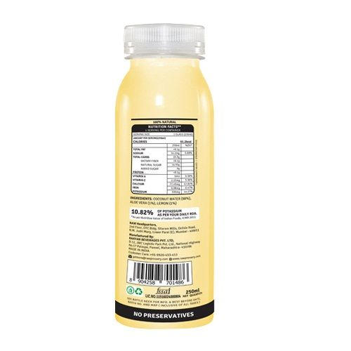 Raw Pressery Coconut water + Aloe Lemon - 100% Natural Cold Pressed Juice, 250 ml