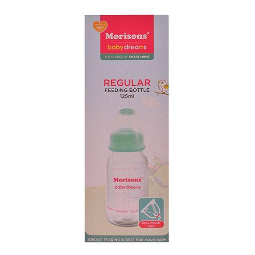 Morisons Baby Dreams Regular PP Feeding Bottle - Pink 125 ml, 1 pc