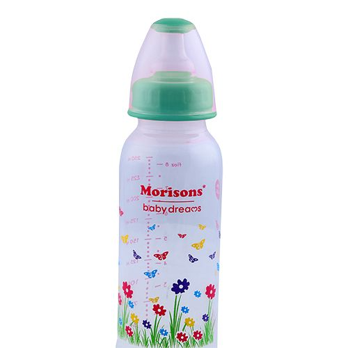 Morisons Baby Dreams PP Feeding Bottle With Spoon - Blue, 1 pc 250 ml