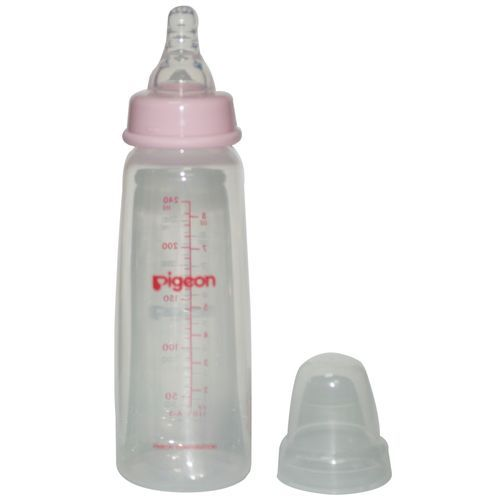 Pigeon Baby Peristaltic Nursing Bottle Kpp - With 2-Nipple, Medium, Pink, 200 ml Set of 3