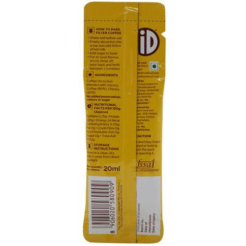 iD Fresh Filter Coffee - Decoction, Travel Satchet, 20 ml