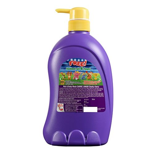 Carrie Junior Hair & Body Wash - Cheeky Cherry, 700 ml Get 1 Free Toy Inside