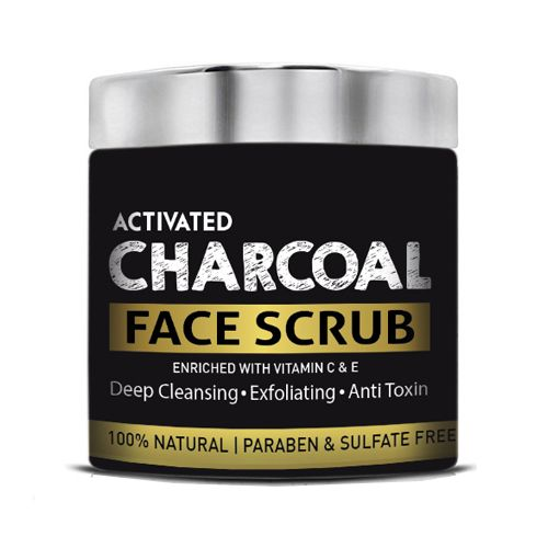 Barber's Club Activated Charcoal Face Scrub - 100% Natural, Paraben &  Sulphate Free, 130 g