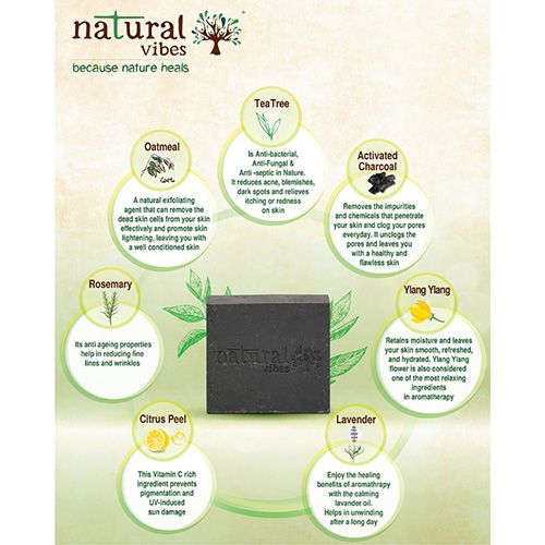 Magical Benefits Of Charcoal For Skin: Buy Natural Vibes Tea Tree & Activated Charcoal Bath