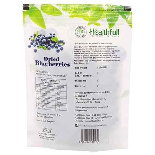 Healthfull Dried Blueberries, 150 g