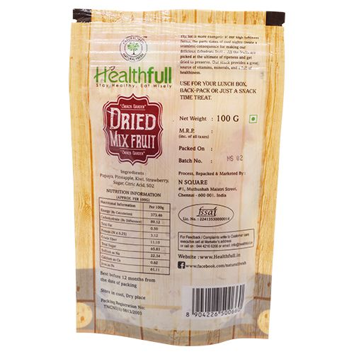 Healthfull Dried Mixed Fruit, 100 gm