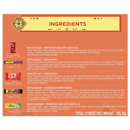 Nestle  Gift Pack - Festive Creations, Assorted Chocolate, Cream, 155.3 g