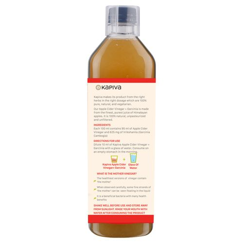 Kapiva Ayurveda Vinegar Apple Cider Vinegar Garcinia 500 Ml