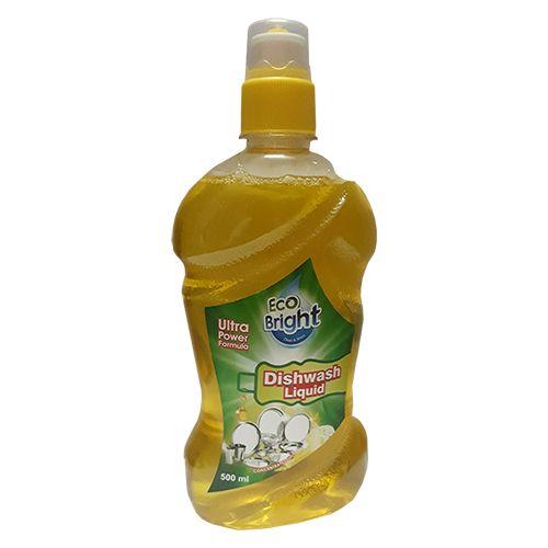 Eco Bright Dishwash Gel - Clean & Shine, Ultra Power Formula, Liquid, 500 ml