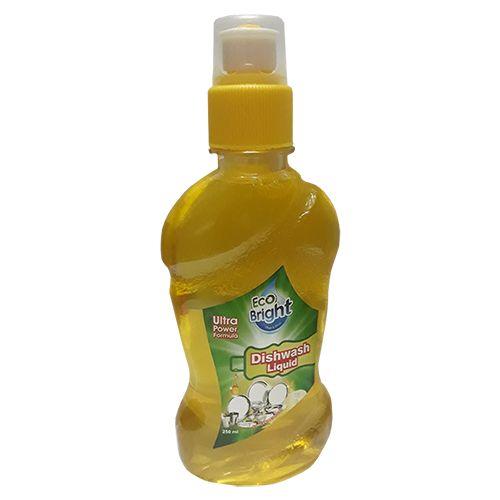 Eco Bright Dishwash Gel - Clean & Shine, Ultra Power Formula, Liquid, 250 ml