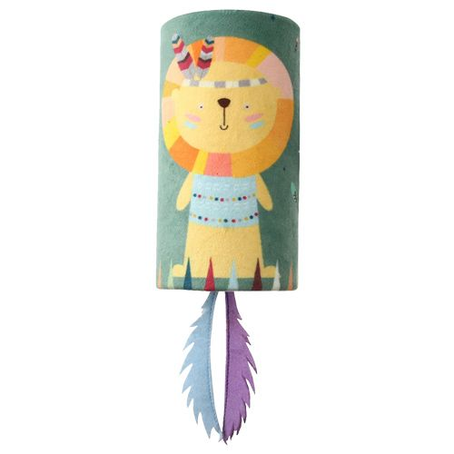 GiGwi Melody Tube Lion With Felt & Sound Chip - Happy Indians, 300 g