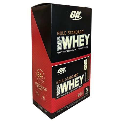 Optimum Nutrition Whey Protein Powder - Gold Standard, Double Rich Chocolate, 192 g Pack of 6