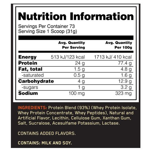 Optimum Nutrition Whey Protein Powder - On, Gold Standard, Vanilla Ice Cream, 5 lb Tub
