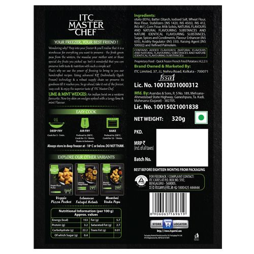 ITC Master Chef Lime & Mint Wedges, 320 g