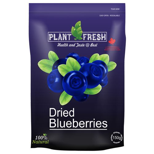 Plantfresh Dried Fruit - Whole Blueberries, 150 g