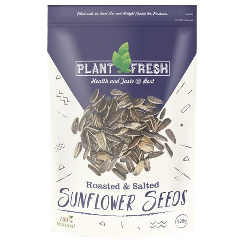 Plantfresh Sunflower Seeds - Roasted & Salted, 120 g