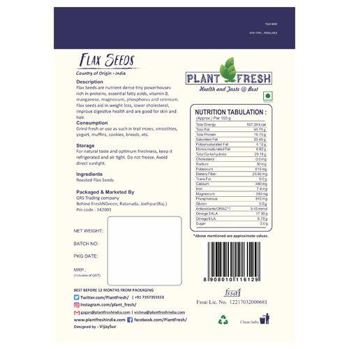 Plantfresh Flaxseeds - Roasted & Salted, 120 g