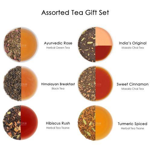 VAHDAM Glow - Assorted Loose Leaf Tea, 20 g Pack of 6