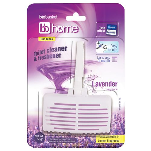BB Home Toilet Cleaner & Freshener - Lavender, Easy To Clip, 50 g