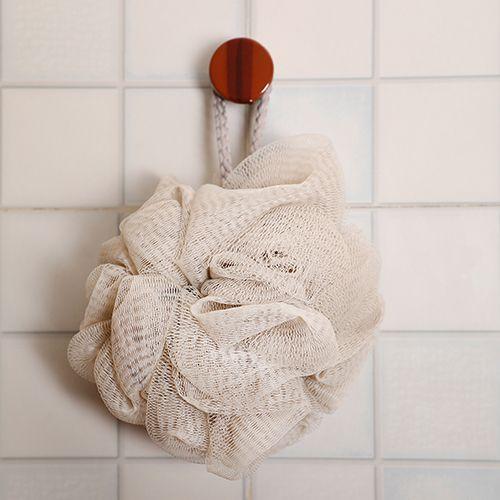 BB Home Body Bath Loofah/Sponge/Scrubber - Hangable - Beige, Bh-005 Bge, 1 pc