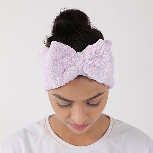 BB Home Spa Bath Shower Face Head/Hair Band - Bow, Purple, Bh-028 Prpl, 1 pc