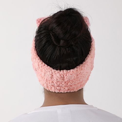 BB Home Spa Bath Shower Face Head/Hair Band - Bow, Pink, Bh-028 Pnk, 1 pc