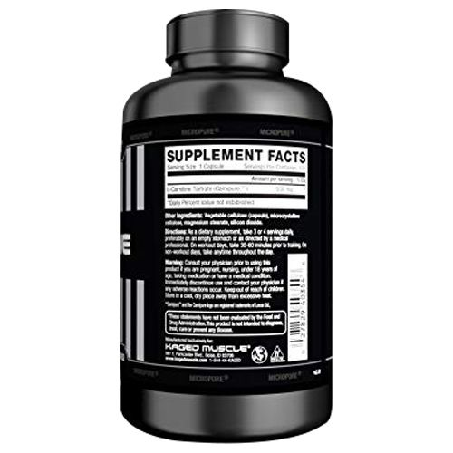 Kaged Muscle L-Carnitine Capsules, 120 pcs
