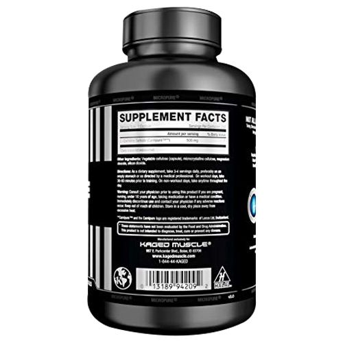 Kaged Muscle L-Carnitine Capsules, 250 pcs