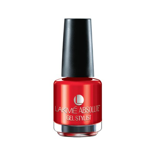 Buy Lakme Absolute Gel Stylist Nail Color 15 Ml Scarlet Red Online At Best Price - bigbasket