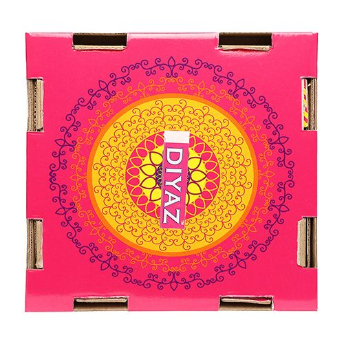 Diyaz Wax Diya Terracotta Pooja Decorative - Round, Multicolour, 124 C, 4 pcs