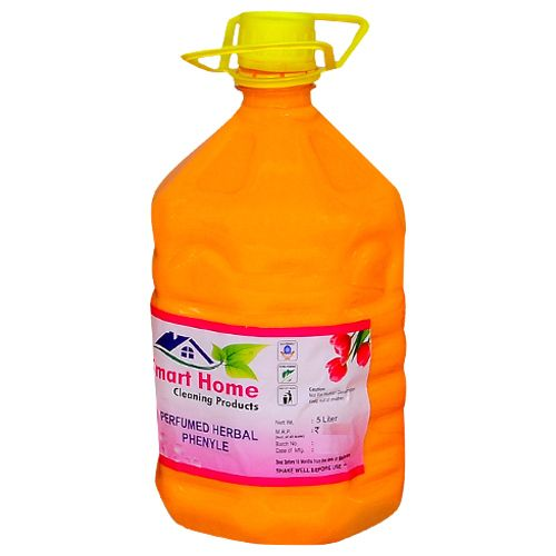 Smart Home Perfumed Herbal Phenyle -Sandal, 5 L Plastic Can