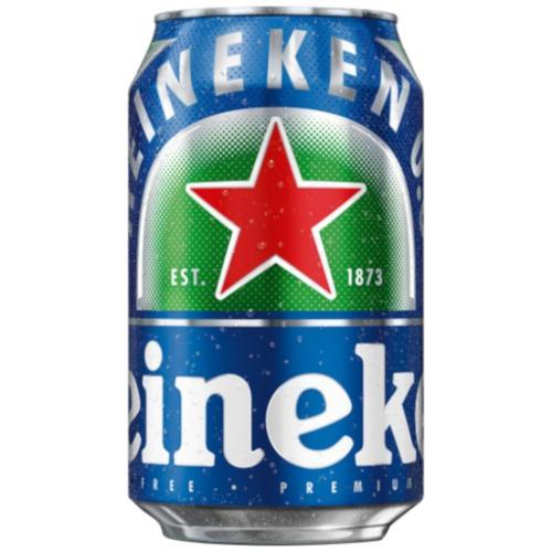 Heineken 0.0 Non Alcoholic Beer, 330 ml Can