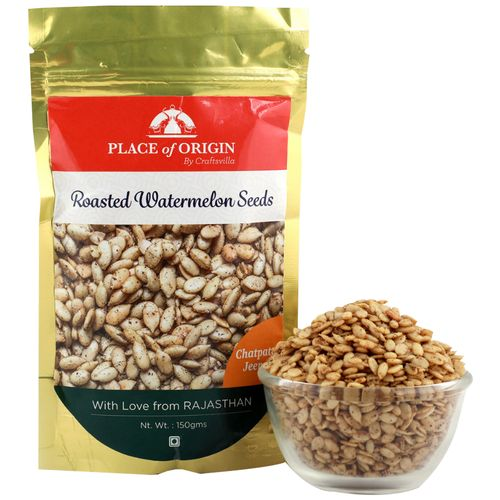 Place of Origin Roasted Watermelon Seeds - Chatpata Jeera, 150 g Pouch