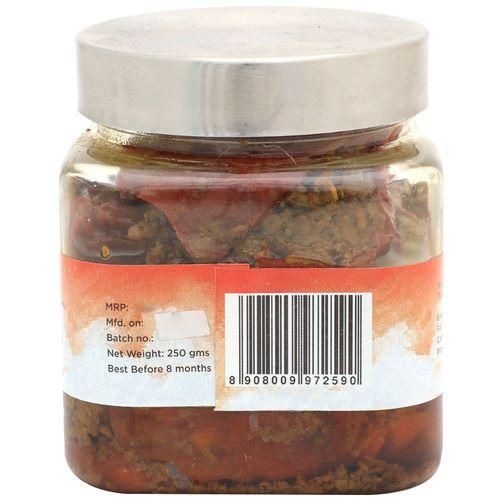 Place of Origin Banarasi Red Chilli Pickle - Sabut Lal Mirch Achaar, 250 g Bottle