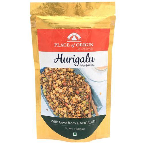 Place of Origin Hurigalu - Spicy Protein Mix, Crunchy Mix, 160 g Bottle
