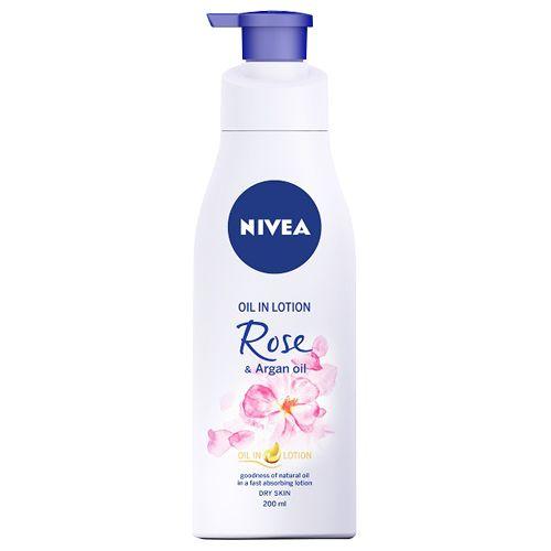 Nivea Oil In Lotion - Rose & Argan Oil, 200 ml