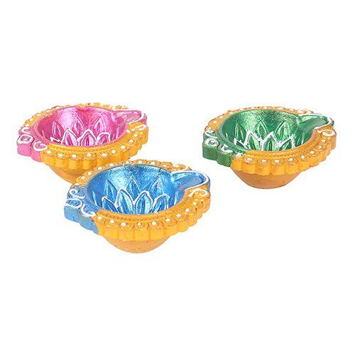 Diyaz Terracotta Pooja Decorative Diya - Multicolour, ED122 E, 6 pcs