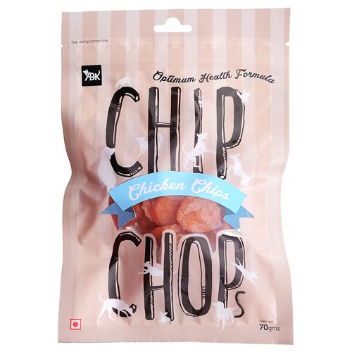 Chip Chops Dog Treats - Chicken Chips, 70 gm