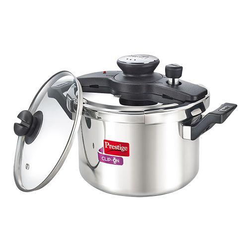 bc70f6651 Buy Prestige Stainless Steel Clip On Pressure Cooker Online at Best Price -  bigbasket