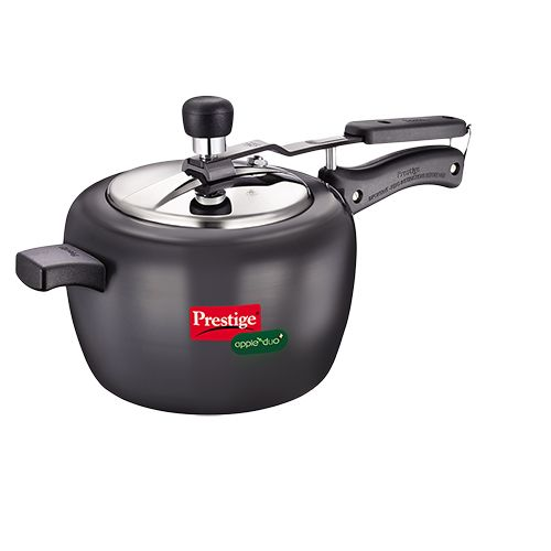 Prestige Apple Duo Pressure Cooker Black, 5 L
